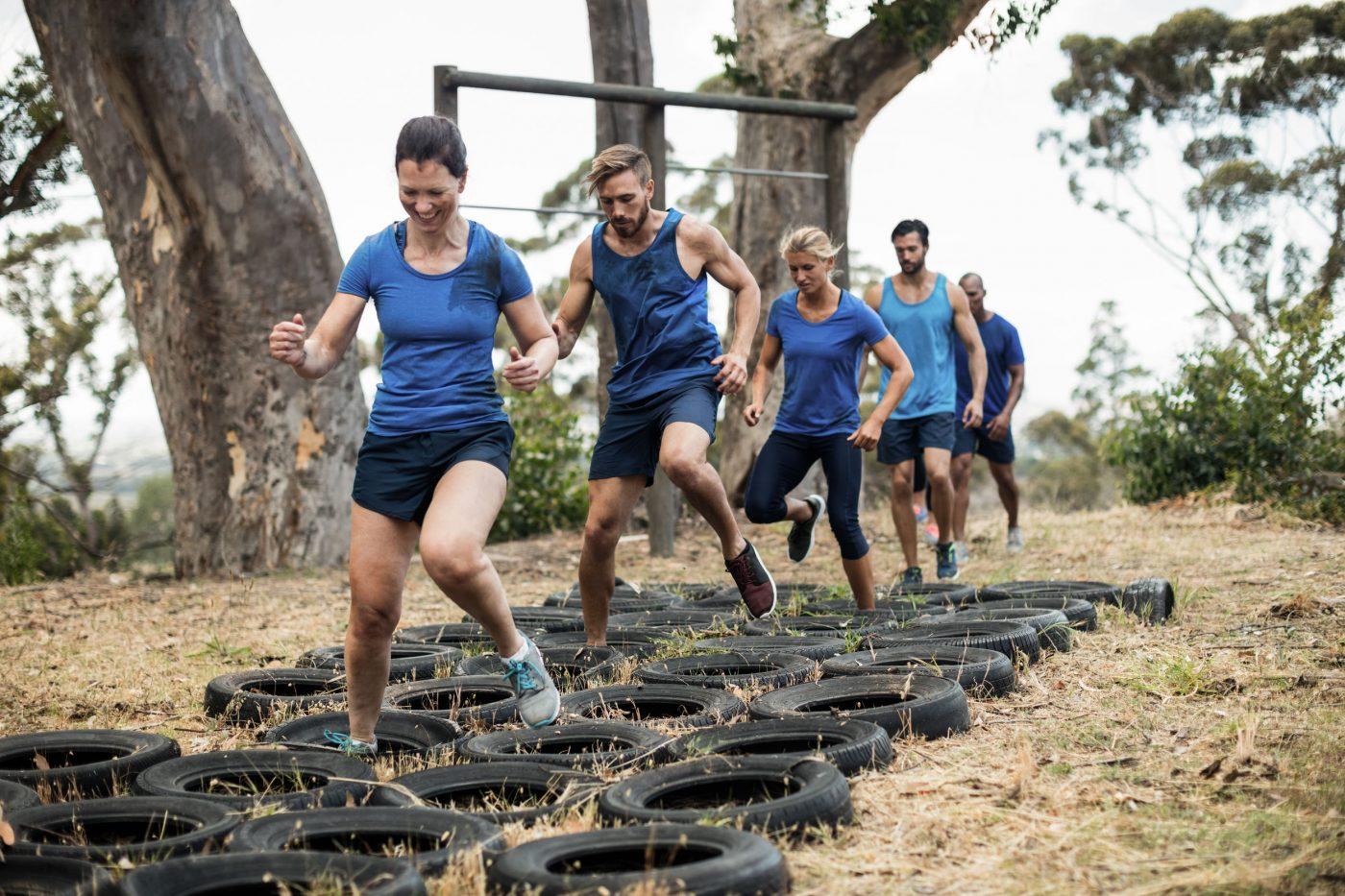 Entraînement course à obstacles
